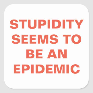 Stupidity Square Sticker