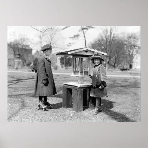 Sturdy Bird Feeder, 1917 Posters