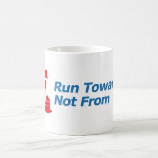 Sturdy Run Towards Not From logo mug