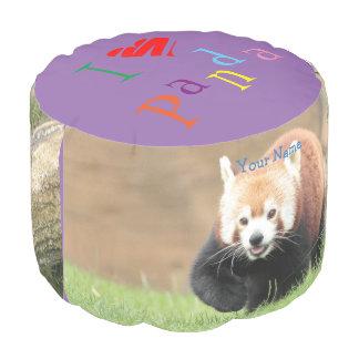 Sturdy Spun. Photo Red Panda. Pouf