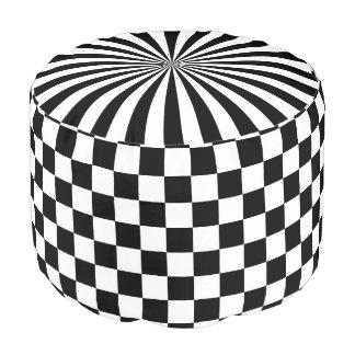 Sturdy Spun Polyester Pouf