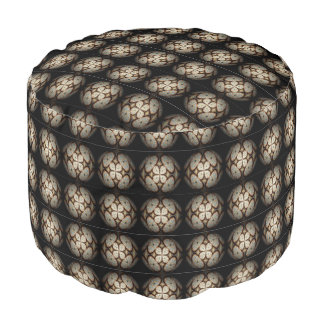 Sturdy Spun Polyester Round Pouf