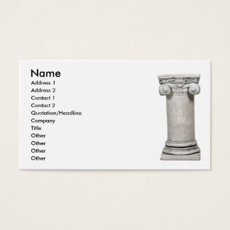 SturdyColumn, Name, Address 1, Address 2, Conta... Business Card