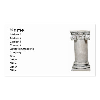 SturdyColumn, Name, Address 1, Address 2, Conta... Pack Of Standard Business Cards
