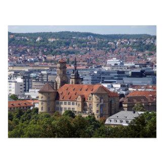 Stuttgart city opinion - old lock postcard