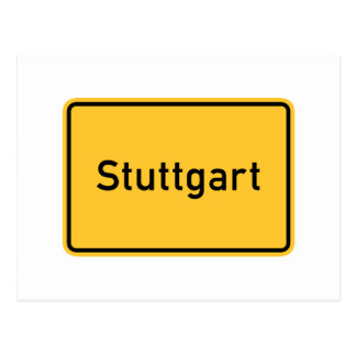 Stuttgart, Germany Road Sign Postcard