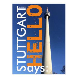 Stuttgart says Hello 2.0 Postcard