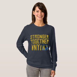 STWNY tee (navy, ladies, long sleeve)