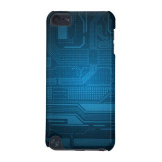 Style bleu de technologie de code binaire de Digit Coque iPod Touch 5G