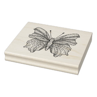 Style Butterfly 3 Rubber Stamp