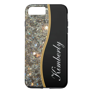 Style chic de monogramme de Bling Coque iPhone 7 Plus