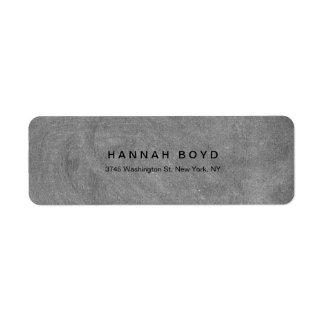Style Creative Grey Chalkboard Modern Professional Return Address Label