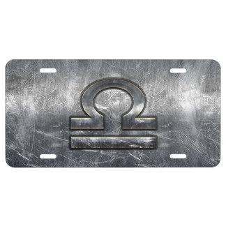 Style d'acier d'argent de symbole de zodiaque de plaque d'immatriculation