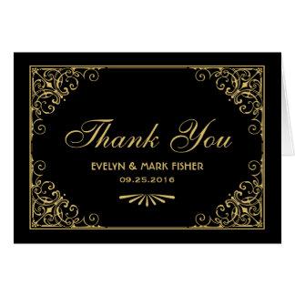 Style d'art déco des cartes de note de Merci |