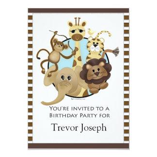 Style de safari d'Invitiation de fête Carton D'invitation 12,7 Cm X 17,78 Cm