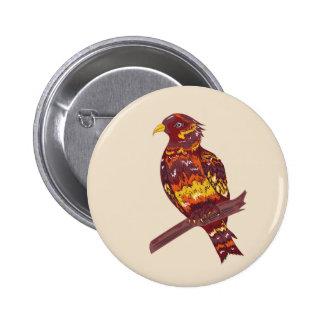 Style dessiné disponible coloré d'oiseau macaron rond 5 cm