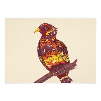 Style dessiné disponible coloré d'oiseau carton d'invitation  12,7 cm x 17,78 cm