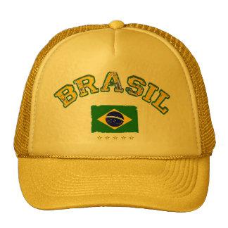 Style du football de drapeau du Brésil Casquettes De Camionneur