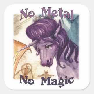 Style No Metal No Magic Stickers