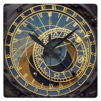 Style Prague astronimical de Steampunk Horloge Carrée