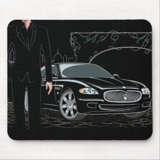 Style Sleek Black Mousepad
