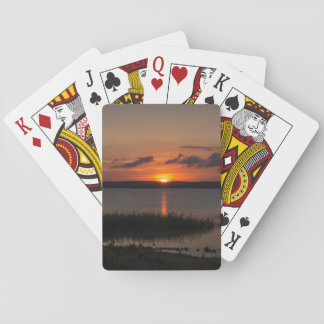 Style sunsets playing cards