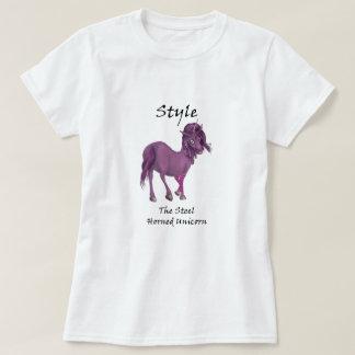 Style The Steel-Horned Unicorn Tee-Shirt T-Shirt