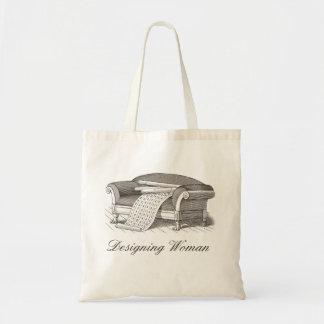 Style vintage concevant le décorateur intérieur de sacs de toile