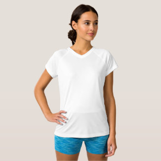 Style: Women's Champion Double-Dry V-Neck T-Shirt