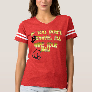 Style: Women's Football T-Shirt - Bitcoin