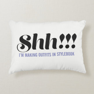 "Stylebook® Pillow - ""Shhh!"""