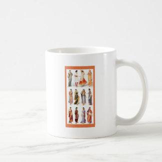 Styles_of_Sari vintage print Coffee Mug