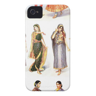 Styles_of_Sari vintage print iPhone 4 Case-Mate Cases
