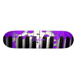 Stylin' Purple Piano Keyboard Skateboard