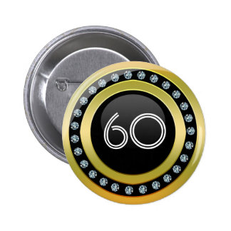 Stylis 60 template button black, gold and diamonds