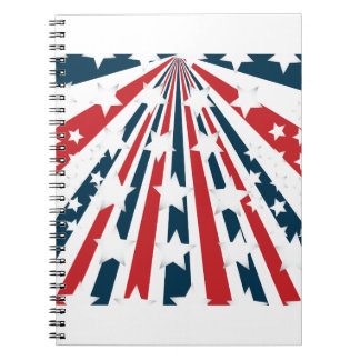Stylised American Flag Spiral Notebook