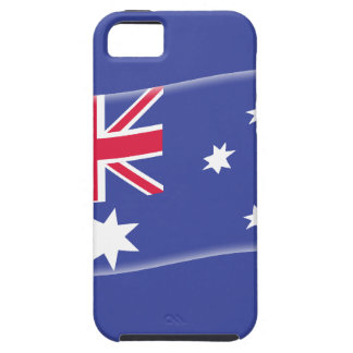 Stylised Aussie Australian flag on a blue backgrou Case For The iPhone 5