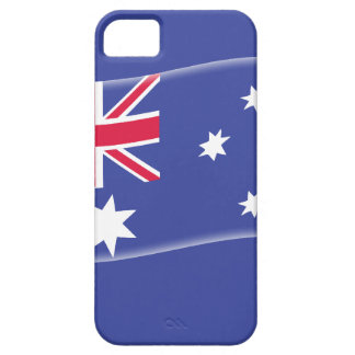 Stylised Aussie Australian flag on a blue backgrou iPhone 5 Cases