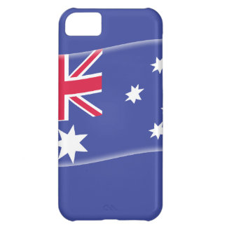 Stylised Aussie Australian flag on a blue backgrou iPhone 5C Cases