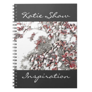 Stylised Autumn Leaves Notebook