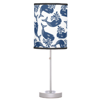 Stylised Blue Whales Desk Lamps