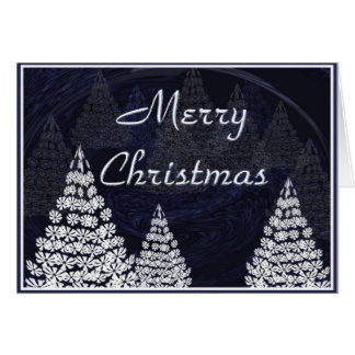 Stylised Christmas trees Card