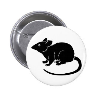Stylised rat illustration 2 inch round button