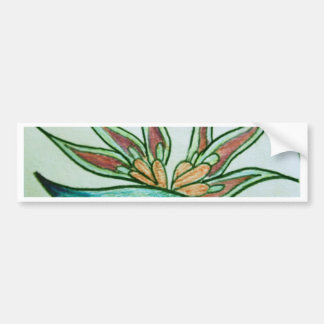 Stylised tropical flower bumper stickers