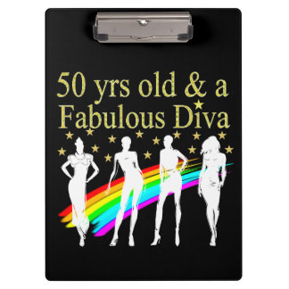 STYLISH 50 AND FABULOUS 50TH BIRTHDAY DESIGN CLIPBOARDS