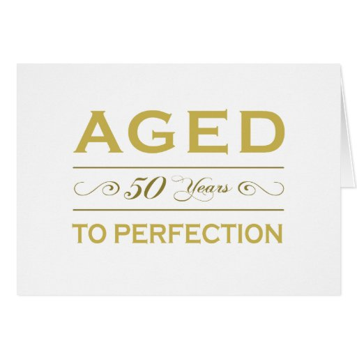 Stylish 50th Birthday Gifts Greeting Cards