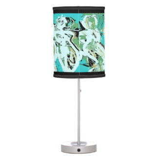 "Stylish Abstract Expressionist ""WOMEN"" Table Lamp"
