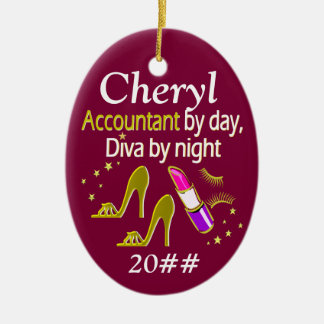 STYLISH ACCOUNTANT PERSONALIZED ORNAMENT