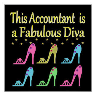 STYLISH ACCOUNTANT SHOE LOVER DESIGN POSTER