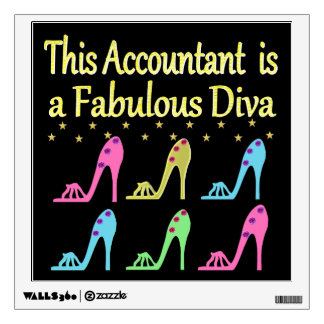 STYLISH ACCOUNTANT SHOE LOVER DESIGN WALL DECAL